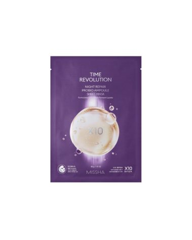 MISSHA-Time-Revolution-Night-Repair-Probio-Ampoule-Sheet-Mask-Miss-Eco
