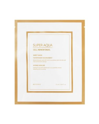 MISSHA-Super-Aqua-Cell-Renew-Snail-Hydro-Gel-Mask-Miss-Eco