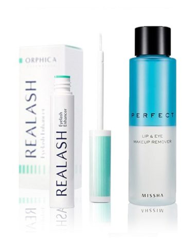 Orphica-Realash-Eyelash-Enhancer-4-ml-+-MISSHA-Perfect-Lip-&-Eye-Make-Up-Remover-155-ml-Miss-Eco